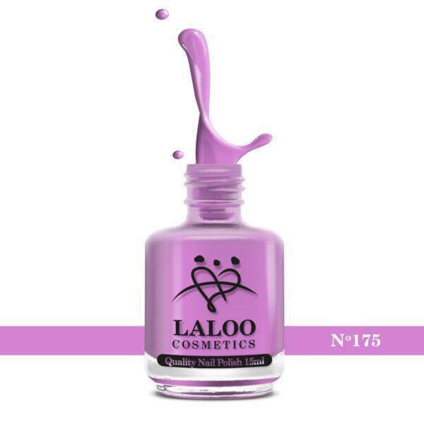 Απλό βερνίκι Laloo Cosmetics 15ml - N.175 Λιλά (χρώμα της πασχαλιάς)