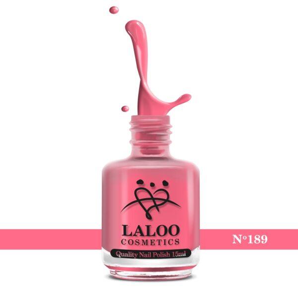 Απλό βερνίκι Laloo Cosmetics 15ml - N.189 Ροζ φούξια έντονο νέον