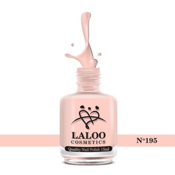 Απλό βερνίκι Laloo Cosmetics 15ml - N.195 Nude πούδρας