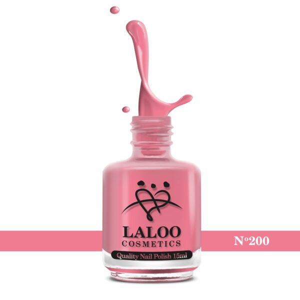 Απλό βερνίκι Laloo Cosmetics 15ml - N.200 Ροζ έντονο