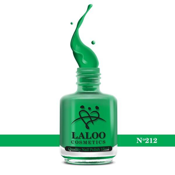 Απλό βερνίκι Laloo Cosmetics 15ml - N.212 Πράσινο