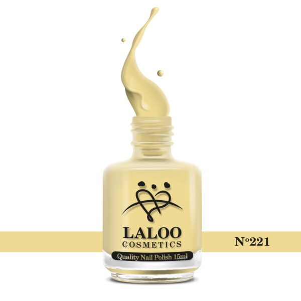 Απλό βερνίκι Laloo Cosmetics 15ml - N.221 Κίτρινο εσωτερικό της μπανάνας