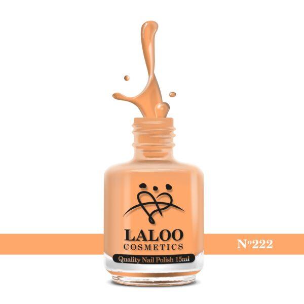 Απλό βερνίκι Laloo Cosmetics 15ml - N.222 Σομόν πορτοκαλί