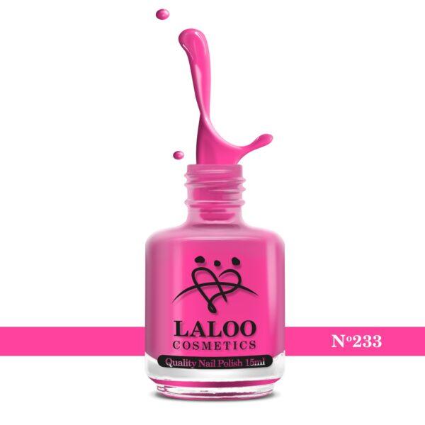 Απλό βερνίκι Laloo Cosmetics 15ml - N.233 Φούξια πολύ ανοιχτό νέον