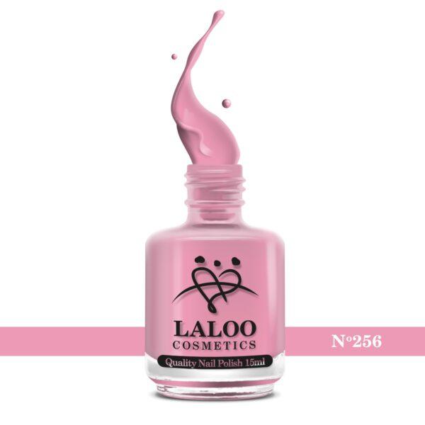 Απλό βερνίκι Laloo Cosmetics 15ml - N.256 Ροζ σκούρο