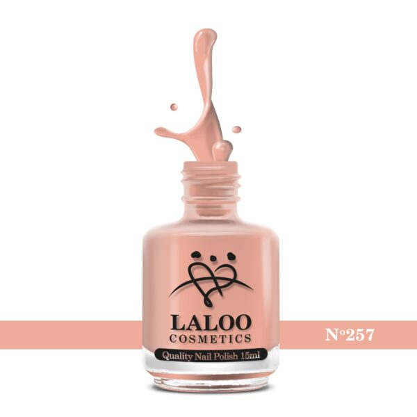 Απλό βερνίκι Laloo Cosmetics 15ml - N.257 Σομόν
