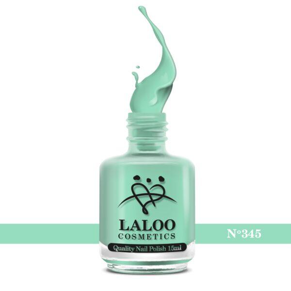 Απλό βερνίκι Laloo Cosmetics 15ml - N.345 Aqua ανοιχτό